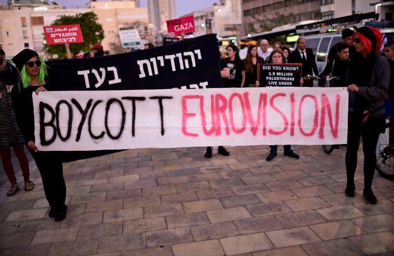 Judíos israelíes y activistas árabes protestan contra la 64 edición del concurso de talento musical Eurovisión