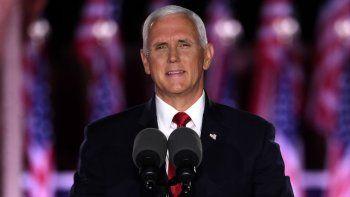El vicepresidente Mike Pence aceptó la nominación para la reelección a la candidatura a la vicepresidencia de Estados Unidos, la noche del 26 de agosto enel Fuerte McHenry, en Baltimore.