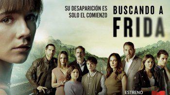 Cargada de intriga y secretos, Buscando a Frida presenta la historia de la idílica familia Pons y como sus vidas cambian repentinamente cuando su hija, Frida, desaparece misteriosamente la noche de la fiesta de cumpleaños de su padre.
