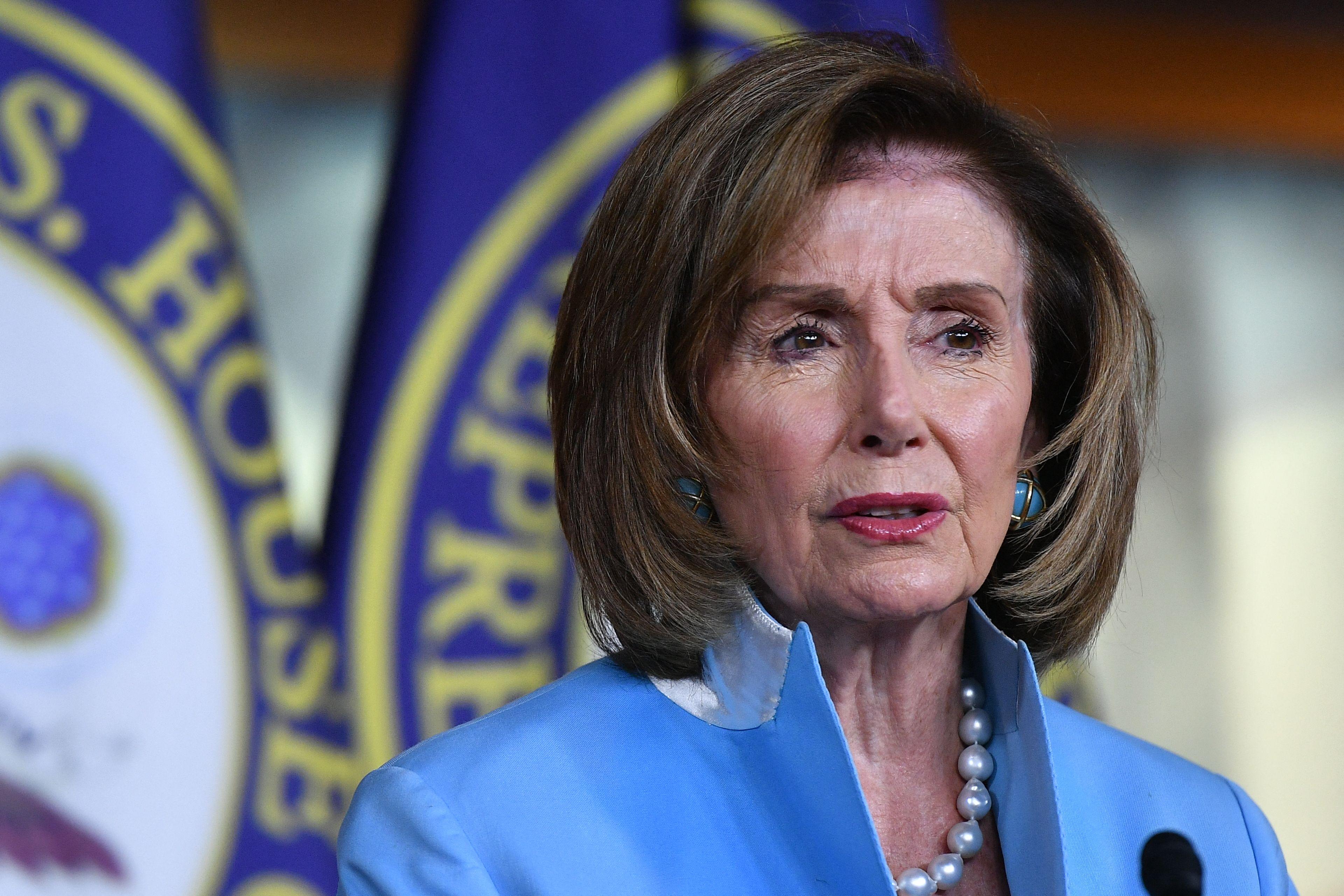 La líder de la mayoría demócrata en la Cámara Baja, Nancy Pelosi.