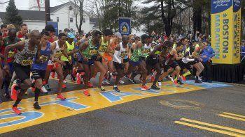 En foto de archivo del 15 de abril del 2019 foto de la salida de la edición 123 del Maratón de Boston. El 28 de mayo del 2020 por primera vez en sus 124 de historia cancelan el Maratón de Boston debido a la pandemia de coronavirus. (