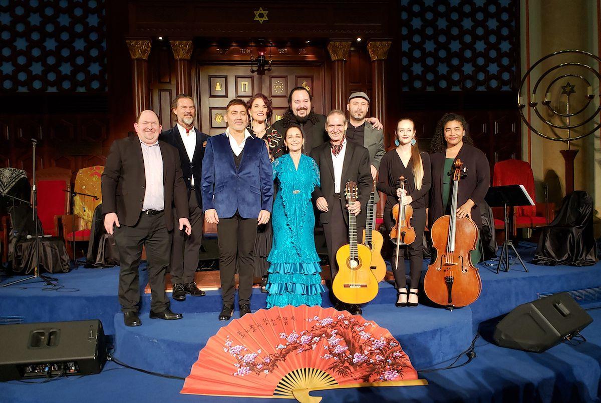 Artistas de la compañía Siempre Flamenco, durante una de las pasadas ediciones del concierto Flamenco Sephardit