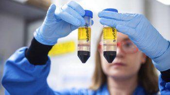 En esta imagen difundida por la Universidad de Oxford el lunes 23 de noviembre de 2020, una investigadora en un laboratorio del Instituto Jenner en Oxford, Inglaterra, trabaja en la vacuna contra el coronavirus que desarrollan AstraZeneca y la Universidad de Oxford.