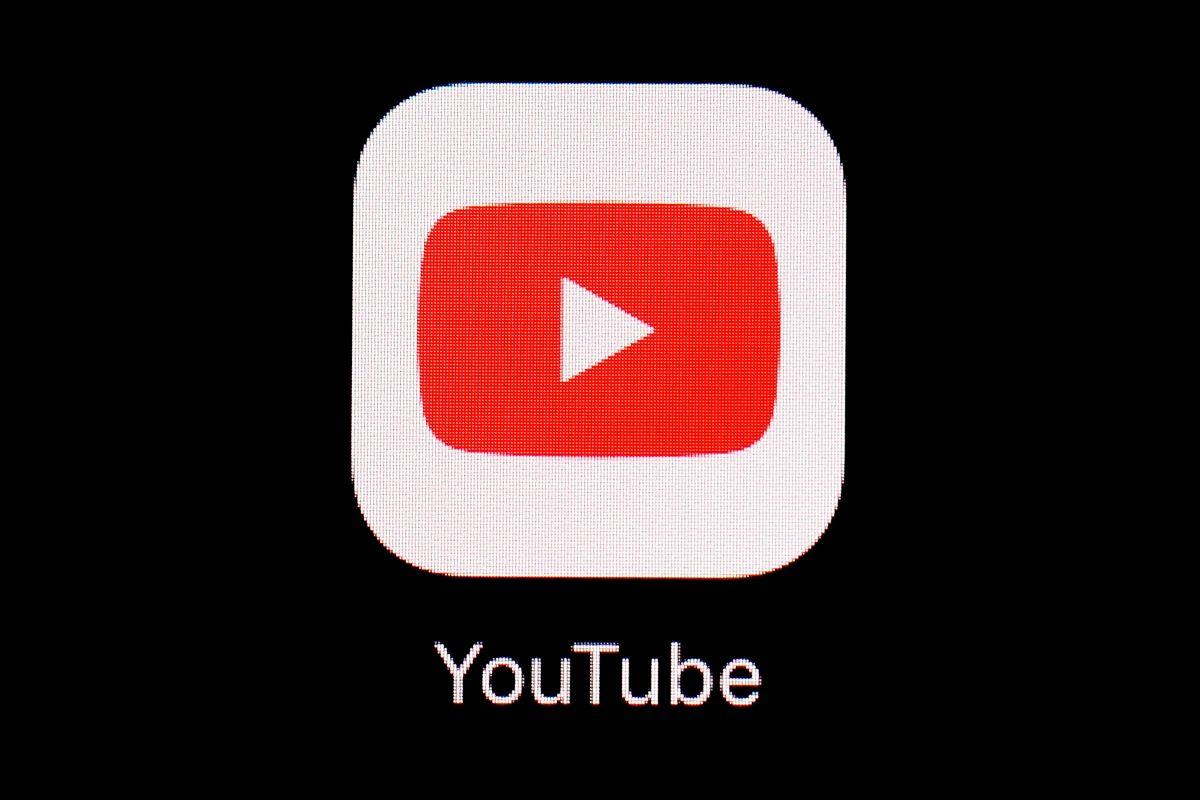 Fotografía del 20 de marzo de 2018 del logotipo de la app de YouTube en un iPad en Baltimore.