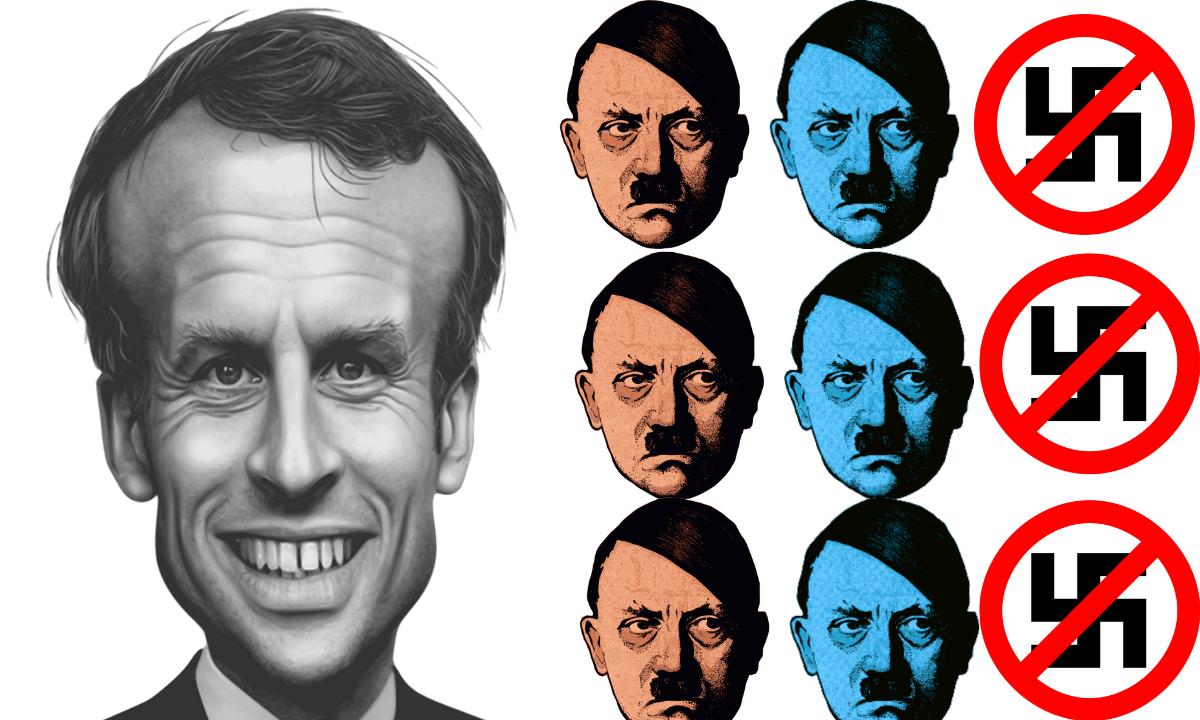 Condenan a hombre por comparar al presidente de Francia con Hitler