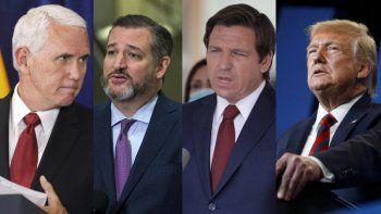 Mike Pence; Ron DeSantis, y Ted Cruz parten como favoritos para las elecciones de 2024 siempre y cuando Trump decidiera no presentarse a los comicios