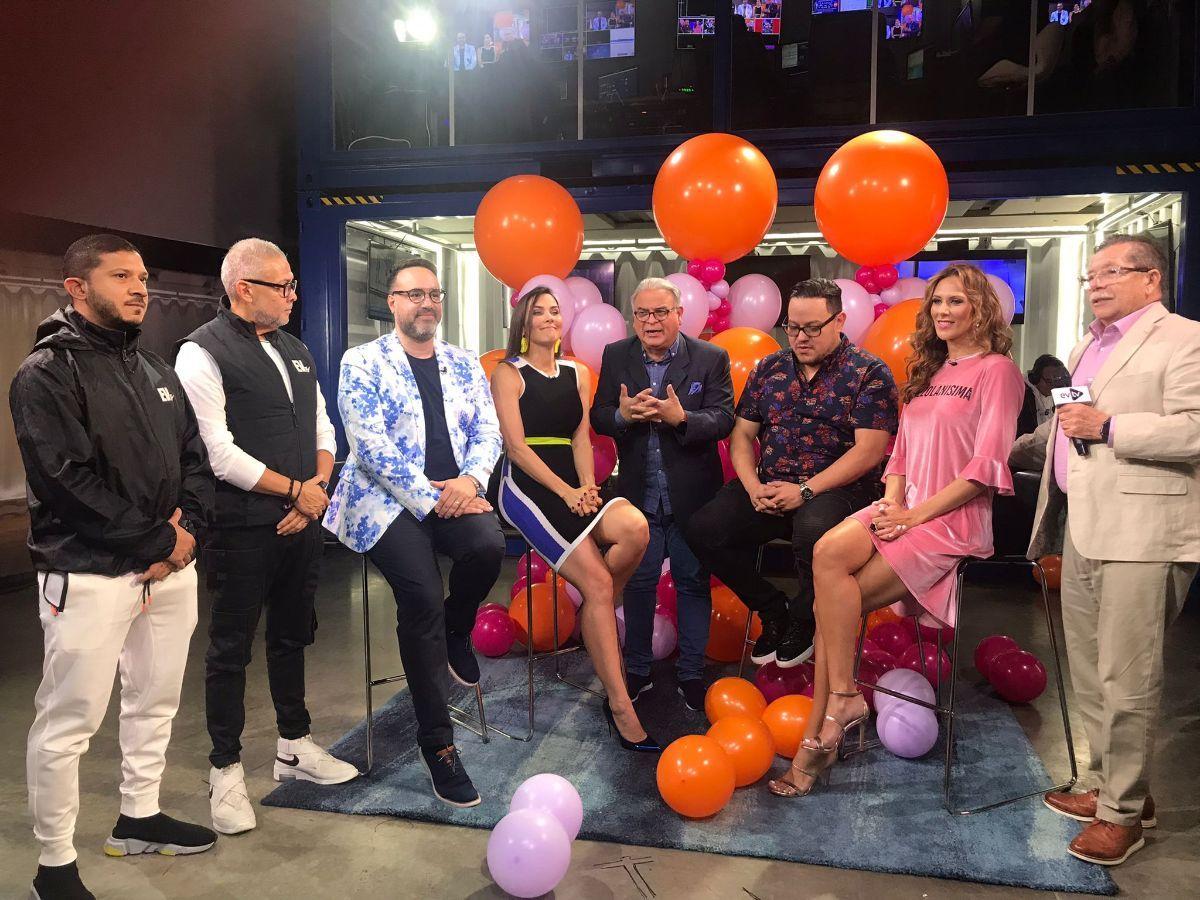 Carlos Acosta, Leopoldo Castillo, Cynthia Lander y Andy Salandy, entre otras figuras de EVTV, el día de la elección deGabriela Vergara como la nueva animadora de Chic al día.