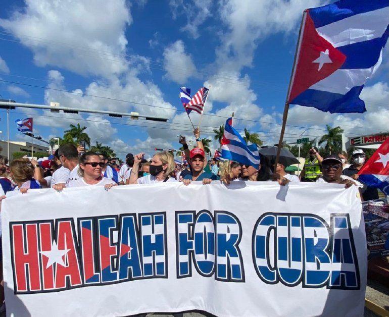 Manifestación en Hialeah