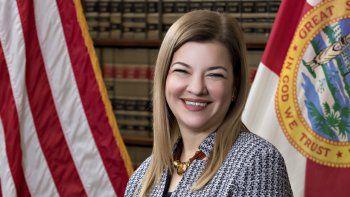 La jueza de circuito estadounidense Barbara Lagoa, de la Corte de Apelaciones del Undécimo Circuito de los Estados Unidos, aparece en esta foto oficial sin fecha publicada por la Corte Suprema de Florida.