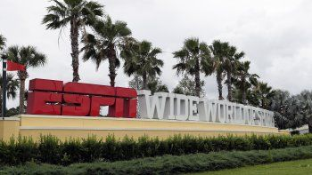 La entrada del complejo de Wide World of Sports de ESPN en Walt Disney World, el miércoles 3 de junio de 2020, en Kissimmee, Florida. Probablemente sea sede de la NBA tras la reanudación post pandemia