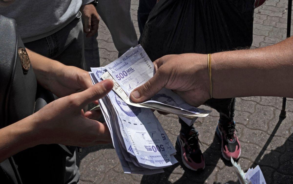 Billetes de 500.000 bolívares en Venezuela.