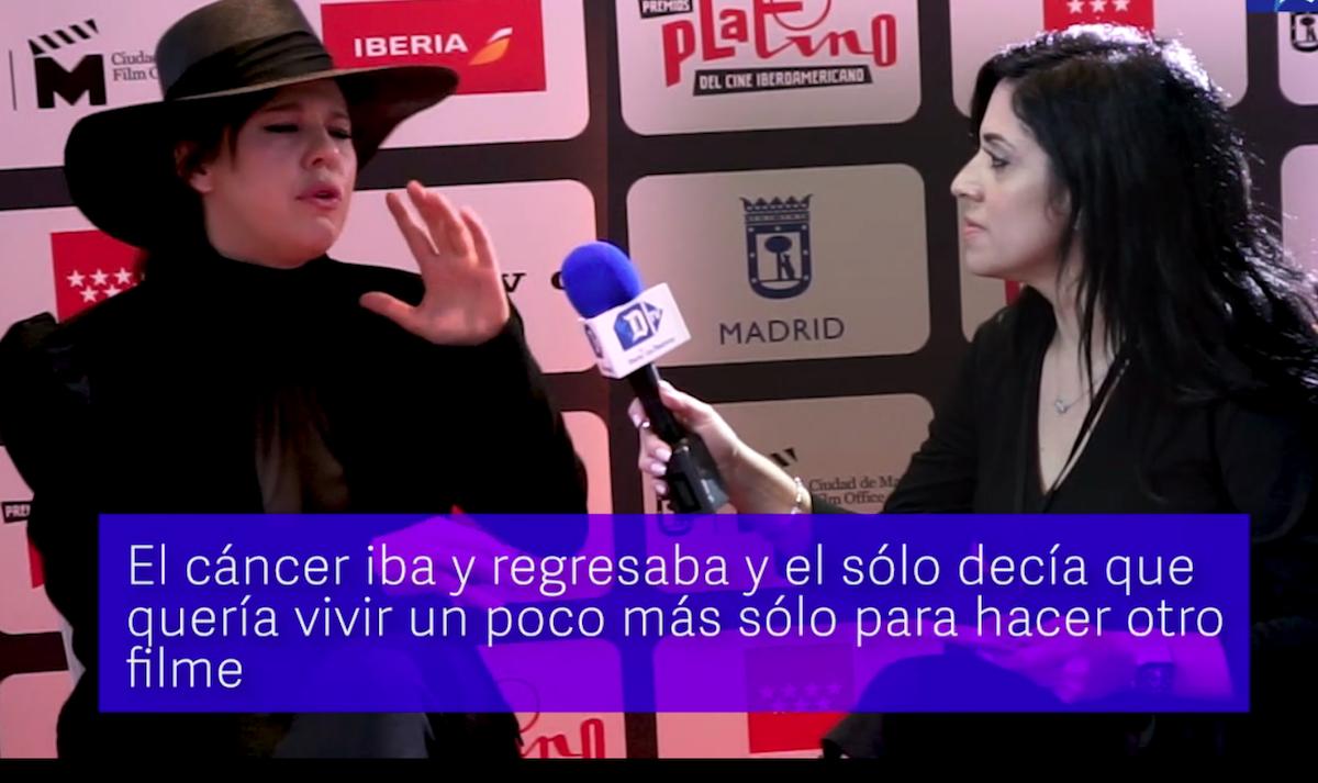 La actriz y directora brasileña Bárbara Paz, durante una entrevista con Diario Las Américas en el marco de los Premios Platino, en Madrid, España.