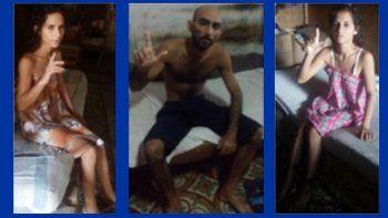 Anairis Miranda Leyva (61 lbs), Fidel Manuel Batista Leyva (105 lbs) y Adiris Miranda Leyva (70 lbs), opositores cubanos en huelga de hambre en la ciudad de Holguín.