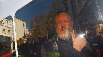 El fundador de WikiLeaks, Julian Assange, a su llegada a la Corte de Magistrados de Westminster en Londres (Reino Unido) tras su detención el pasado 11 de abril de 2019.