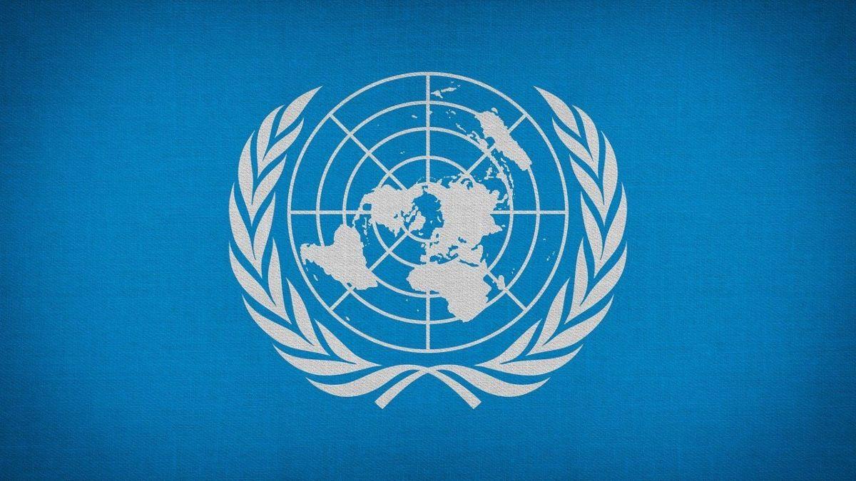 Emblema de la Asamblea General de la ONU.