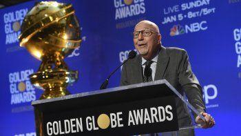 Lorenzo Soria habla en las nominaciones para la 77 entrega anual de los Globos de Oro el 9 de diciembre de 2019, en Beverly Hills, California Soria, presidente de la Asociación de Prensa Extranjera de Hollywood y ex editor del semanario italiano LEspresso, falleció el viernes.