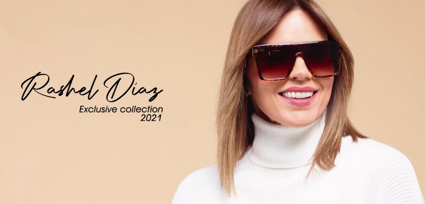 Rashel Díaz lanza su propia colección de gafas de la mano de Santorini Sunglasses.