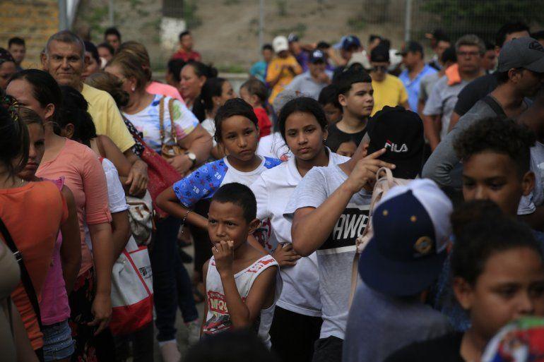 Migrantes de distintos países