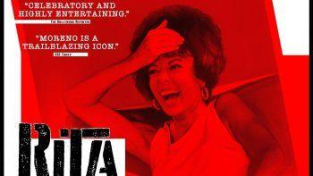 En esta imagen difundida por Roadside Attractions, el póster del documental Rita Moreno: Just a Girl Who Decided to Go for It, dirigido por Mariem Pérez Riera.