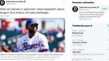 El venezolano Elvis Andrus analiza si realmente vale la pena jugar la temporada de 2020 tras las restricciones que habrán en las Grandes Ligas por el coronavirus