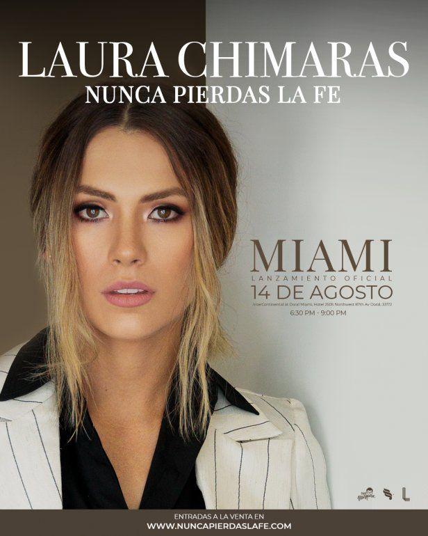 Laura Chimaras lanza libro sobre su papá Nunca pierdas la fe