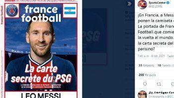 Hoy, la revista France Football hizo un montaje en el que el argentino aparecer en portada con la camiseta del PSG, uno de los equipos que estaría detrás -y que tiene posibilidades financieras- de llegar a un acuerdo con Messi.