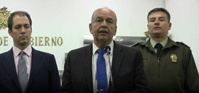El ministro de Gobierno de Bolivia