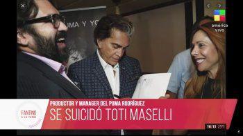 El empresario y productor argentino Héctor Toti Masellise suicidó tras sufrir una grave crisis depresiva, a causa de los efectos económicos que produjo en su oficio la pandemia por el COVID-19.