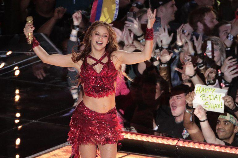 Shakira durante su presentación en el espectáculo de medio tiempo en el Super Bowl 54 de la NFL el 2 de febrero de 2020 en Miami Gardens