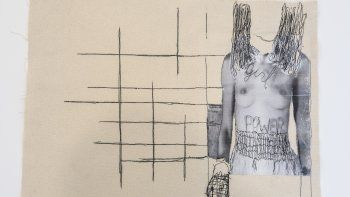 Callar duele más, de Maru Ulivi, es una las 11 piezas que conforman la muestra Feminismo de sur a norte, que se puede visitar hasta el 31 de octubre, en Camp Gallery, en Miami.