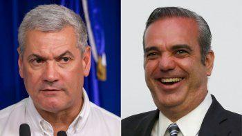 Esta combinación de imágenes creadas el 25 de junio de 2020 muestra a la izquierda al candidato presidencial por el gobernante Partido Dominicano de la Liberación (PLD) Gonzalo Castillo, y al candidato presidencial del Partido Revolucionario Moderno (PRM) de República Dominicana, Luis Abinader.