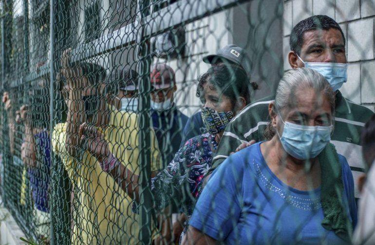 Venezolanos desplazados de La Victoria