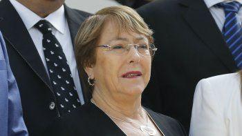 La alta comisionada de las Naciones Unidas para los Derechos Humanos, Michelle Bachelet,durante su visita aCaracas, Venezuela, el viernes 21 de junio de 2019.