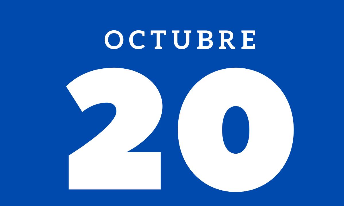 10 hechos relevantes ocurridos un 20 de octubre