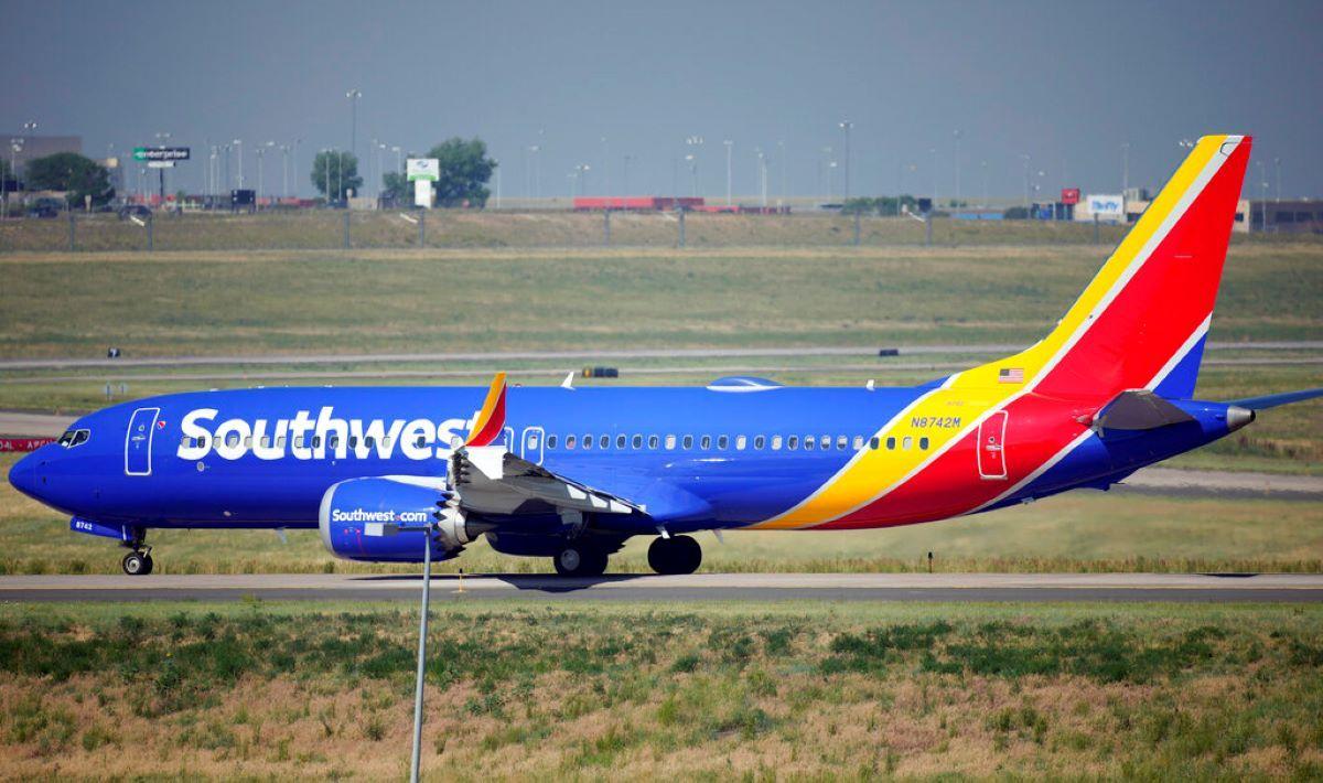Un avión de Southwest Airlines en el aeropuerto de Denver.