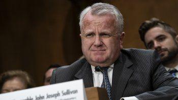 El subsecretario de Estado norteamericano, John Sullivan, comparece ante la Comisión de Relaciones Exteriores del Senado en la audiencia para su confirmación como embajador de Estados Unidos en Rusia el miércoles, 30 de octubre del 2019.