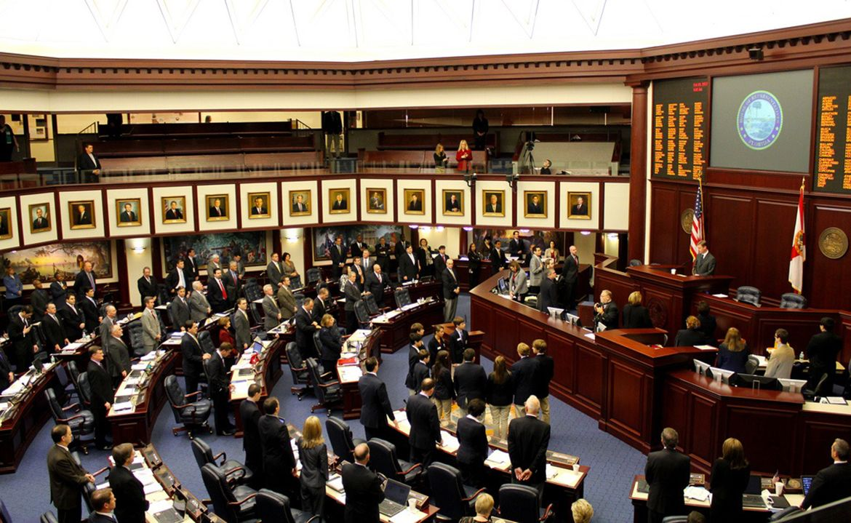 Vista parcial del Senado de Florida.