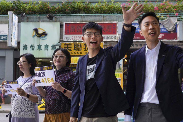 El candidato ganador de las elecciones locales Kelvin Lam