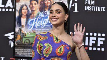 Melissa Barrera llega a una función de In the Heights durante el Festival Internacional de Cine Latino de Los Angeles, el viernes 4 de junio de 2021 en el Teatro Chino TCL en Los Angeles.