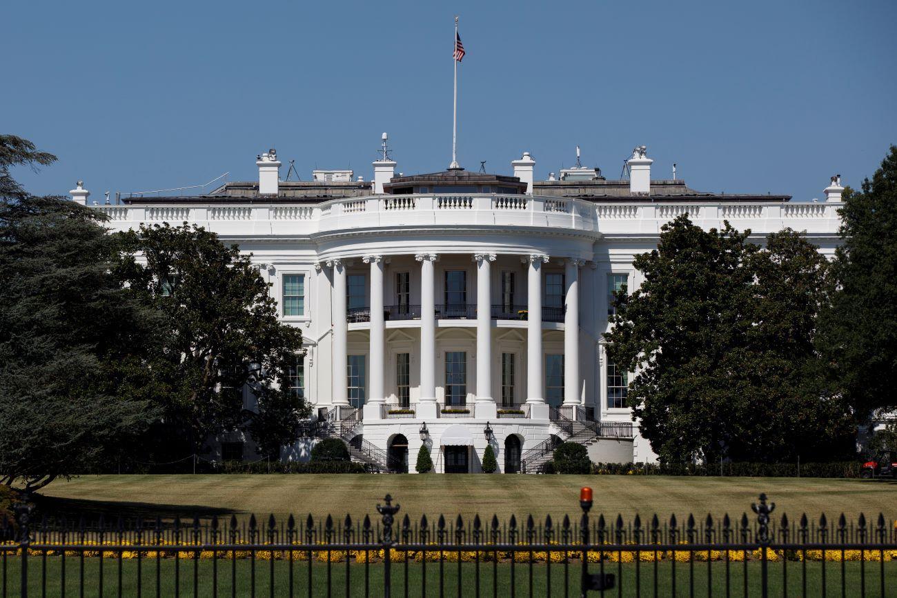Imagen general de la Casa Blanca en Washington DC.