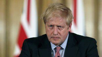 El primer ministro de Gran Bretaña. Boris Johnson realiza una conferencia de prensa en el número 10 de Downing Street, en Londres, el jueves 12 de marzo de 2020.