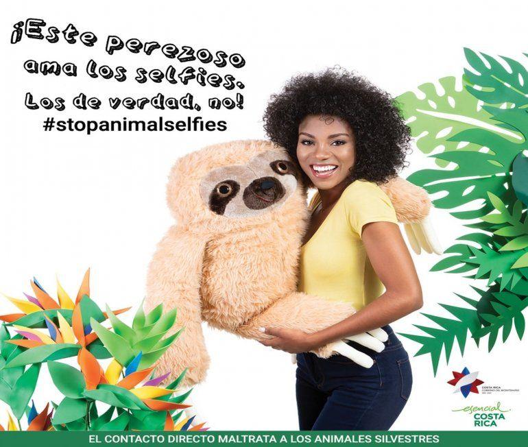 Costa Rica lanza una campaña para proteger a los animales de selfies crueles o inadecuados. Más del 64% de los visitantes de Costa Rica lo hace por el ecoturismo.