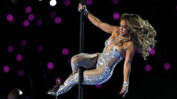 Jennifer Lopez durante su presentación en el espectáculo de medio tiempo del Super Bowl 54 de la NFL entre los 49ers de San Francisco y los Chiefs de Kansas City el domingo 2 de febrero de 2020 en Miami Gardens, Florida.