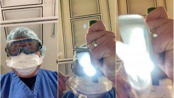 En el video, el médico Kenneth Remy puso la cámara en la posición del paciente para mostrar qué es lo que ve una persona enferma de COVID-19 en sus momentos finales.