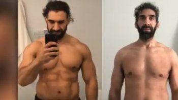 El hombre de 40 años parecía una persona completamente diferente, pero al superar la enfermedad ya ha recuperado 20 kilos y quiso dejar un mensaje de advertencia al mundo.
