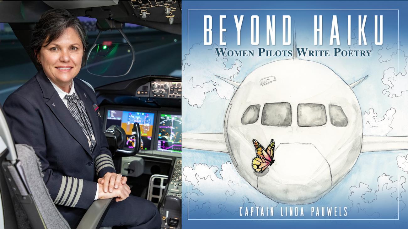 """La piloto y escritora Linda Pauwels presenta su nuevo libro """"Beyond Haiku: Women Pilots Write Poetry"""", en octubre de 2021."""