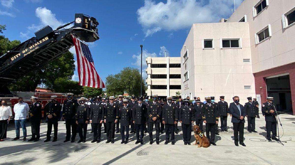 Parte de los actos en honor a las víctimas del 11 de septiembre.
