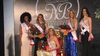 Irene Galvis y el cuadro de finalistas integrado por: Liz Arbelaez; Miranda, Irmar Cabrices; Portuguesa, Vanesa Angulo; y Distrito Capital, Urimary Nucette, quienes fueron seleccionadas como primera, segunda, tercera y cuarta finalista, respectivamente.