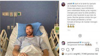 El delantero del Puebla sufrió las fracturas el pasado viernes en el compromiso contra el Queretaro por la séptima fecha de la Liga Mx y este domingo fue operado