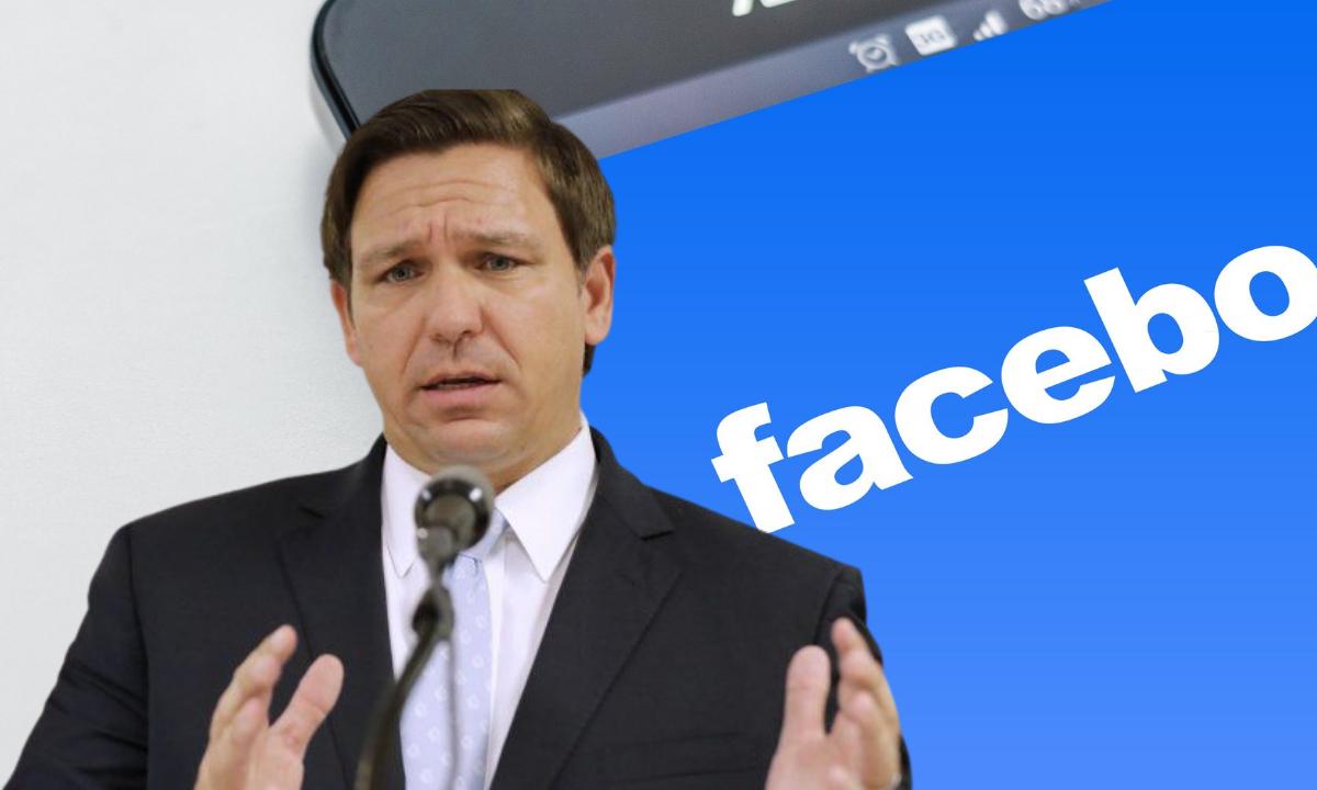 Ron deSantis contra Facebook por interferencia electoral